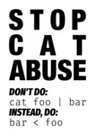 Stop cat abuse