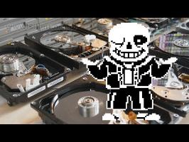 Megalovania on Floppotron