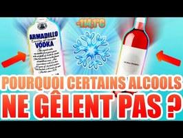 POURQUOI L'ALCOOL NE GÈLE PAS ?
