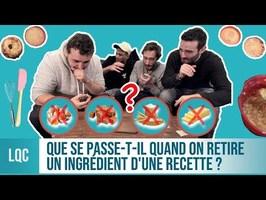 LQC - Que se passe-t-il si on enlève un ingrédient d'une recette ?