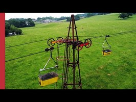 The UK's last aerial ropeway uses no power, moves 300 tonnes a day, and will be gone by 2036.