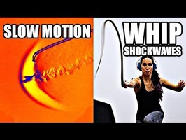 How does a whip break the sound barrier? (Slow Motion Shockwave formation) - Smarter Every Day 207