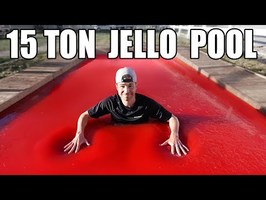 World's LARGEST JELLO POOL- Can you swim?