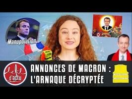 ANNONCES DE MACRON : L'ARNAQUE DÉCRYPTÉE