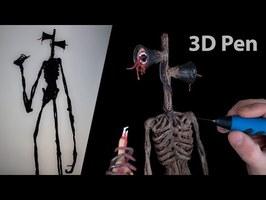 3D Pen   Making Siren Head   Trevor Henderson Creatures