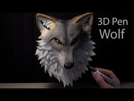I made a Wolf with 3D Pen | 3D Pen Lab