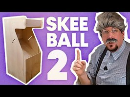Notre SKEE BALL est GEANT !!! DIY Best jeu d'ARCADE [EP-02 Skeeball]