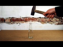 Crash a glass bottle - Stop Motion 4K