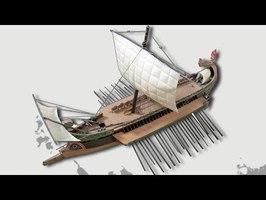Les navires de guerre antiques (trirème grecque)