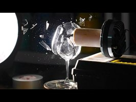 Shattering a Wine Glass with Sound at 187,500FPS - The Slow Mo Guys