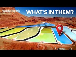 Why are there huge colorful pools in the Utah desert?