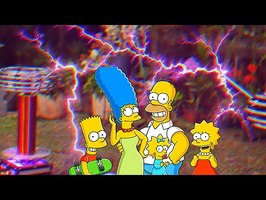 THE SIMPSONS on TESLA COILS