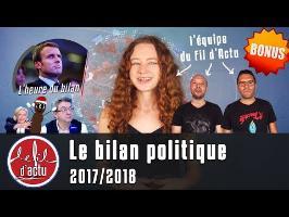 LE BILAN POLITIQUE - 2017/2018