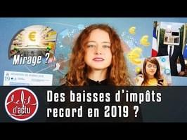 DES BAISSES D'IMPÔTS RECORD EN 2019 ?