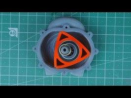 Compressed Air Triangular Engine - Wankel Rotary (3D Printed)