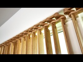 Making Vertical Blinds with Exposed Mechanical Linkage - Woodworking