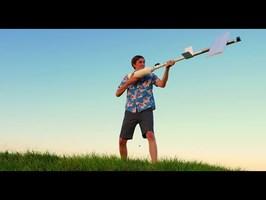 Potato cannon powered glider