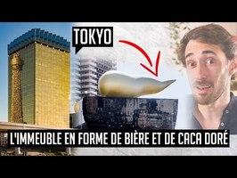 L'immeuble en forme de chope de bière et de caca doré au japon