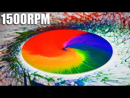 1500rpm Slow Motion Paint Flinger - The Slow Mo Guys