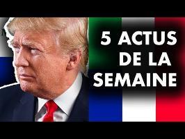 TRUMP CONTRE MÉDIAS, POURQUOI LE PONT S'EST EFFONDRÉ, PROCÈS CONTRE MONSANTO.. 5 actus de la semaine