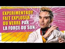 Experimentboy fait exploser du verre par la force du son - ChimFizz #24- String Theory