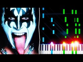 KISS - I Was Made For Lovin' You - Piano Tutorial