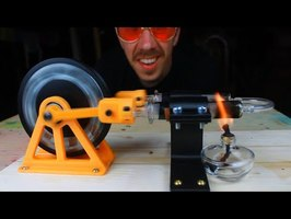 Hot Air Engine Car (Stirling Engine 3D Printed)