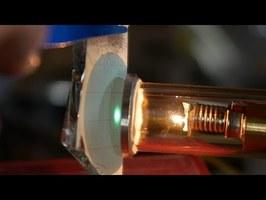 Shooting an electron beam through air