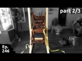 fabrication d'une chaise pour manger et boire à l'envers pour les amis du tatou - part 2/3 - ep246