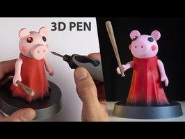 3D Pen ➤ Making ROBLOX PIGGY | Roblox 3D Pen Fan Art Sculpture