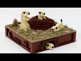 Prairie Dogs Kinetic LEGO Sculpture