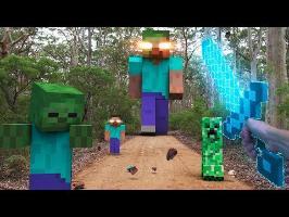 Minecraft In Real Life | Herobrine's War