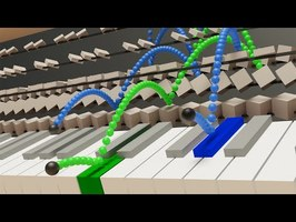 Visualizing Piano with Bouncing Balls (Chopin - Nocturne op.9 No.2)