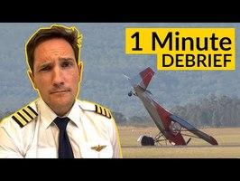 PLANE CRASHES on FINAL! 1 min DEBRIEF by CAPTAIN JOE