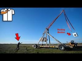 MASSIVE Trebuchet First Test